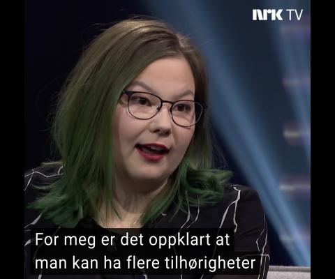 Styreleder Nora Ollila var på Studio Sápmi