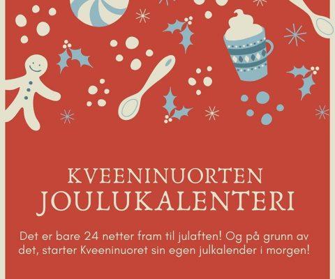Kveeninuoret sin julekalender på Instagram og Facebook!
